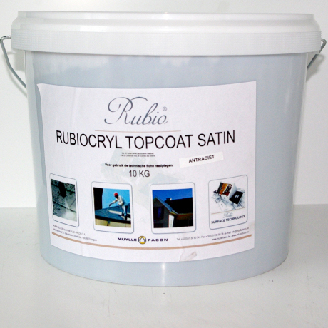 rubiocryl topcoat satin anthraciet (10kg)