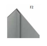 unicprofiel facade F2 quartz-zinc 1 mm