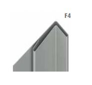 unicprofiel facade F4 quartz-zinc 1 mm