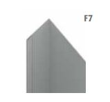 unicprofiel facade F7 quartz-zinc 1 mm